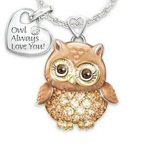 NWOT Brand New Owl Always Love You Necklace